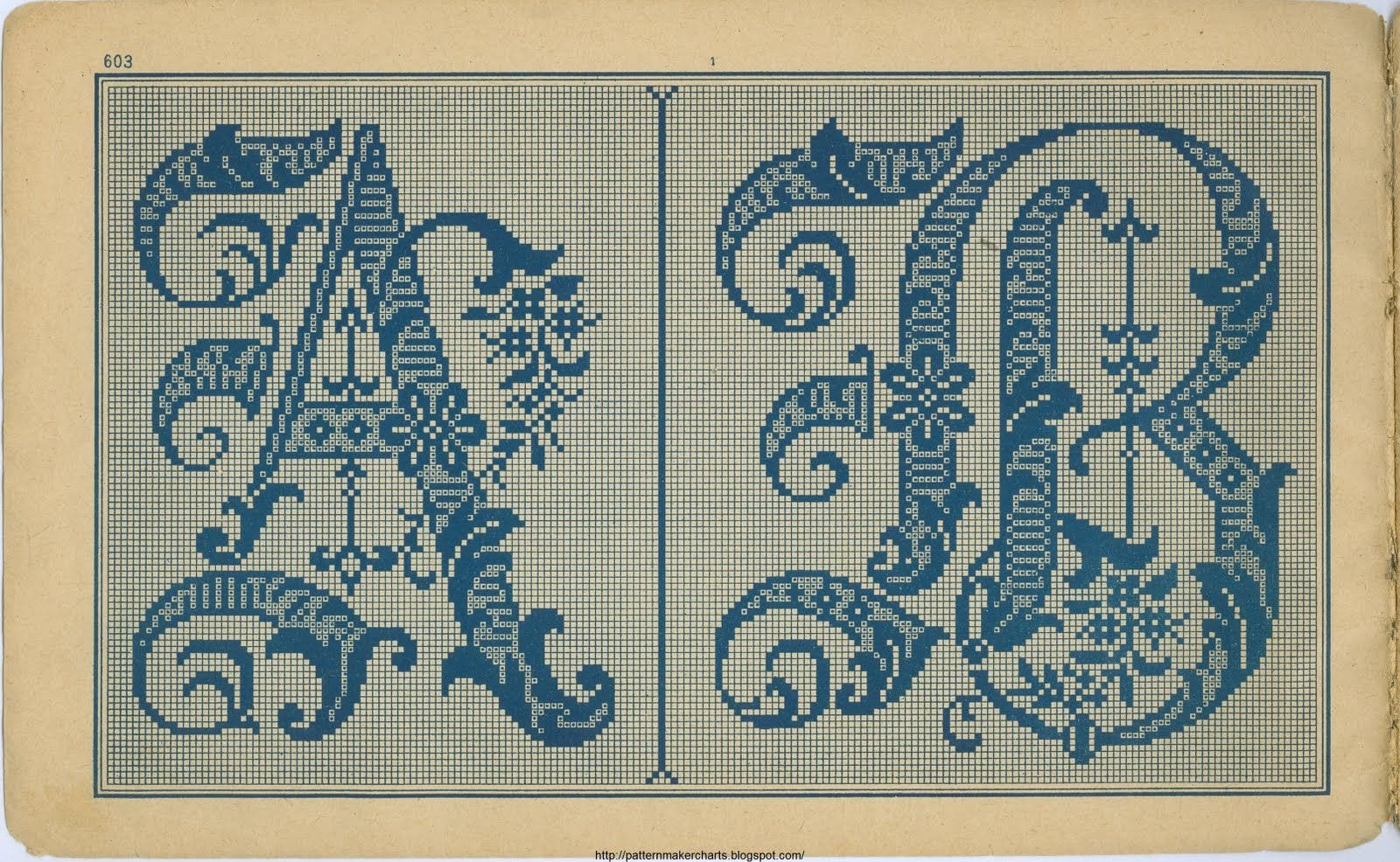 Vintage Lettering for Cross Stitch