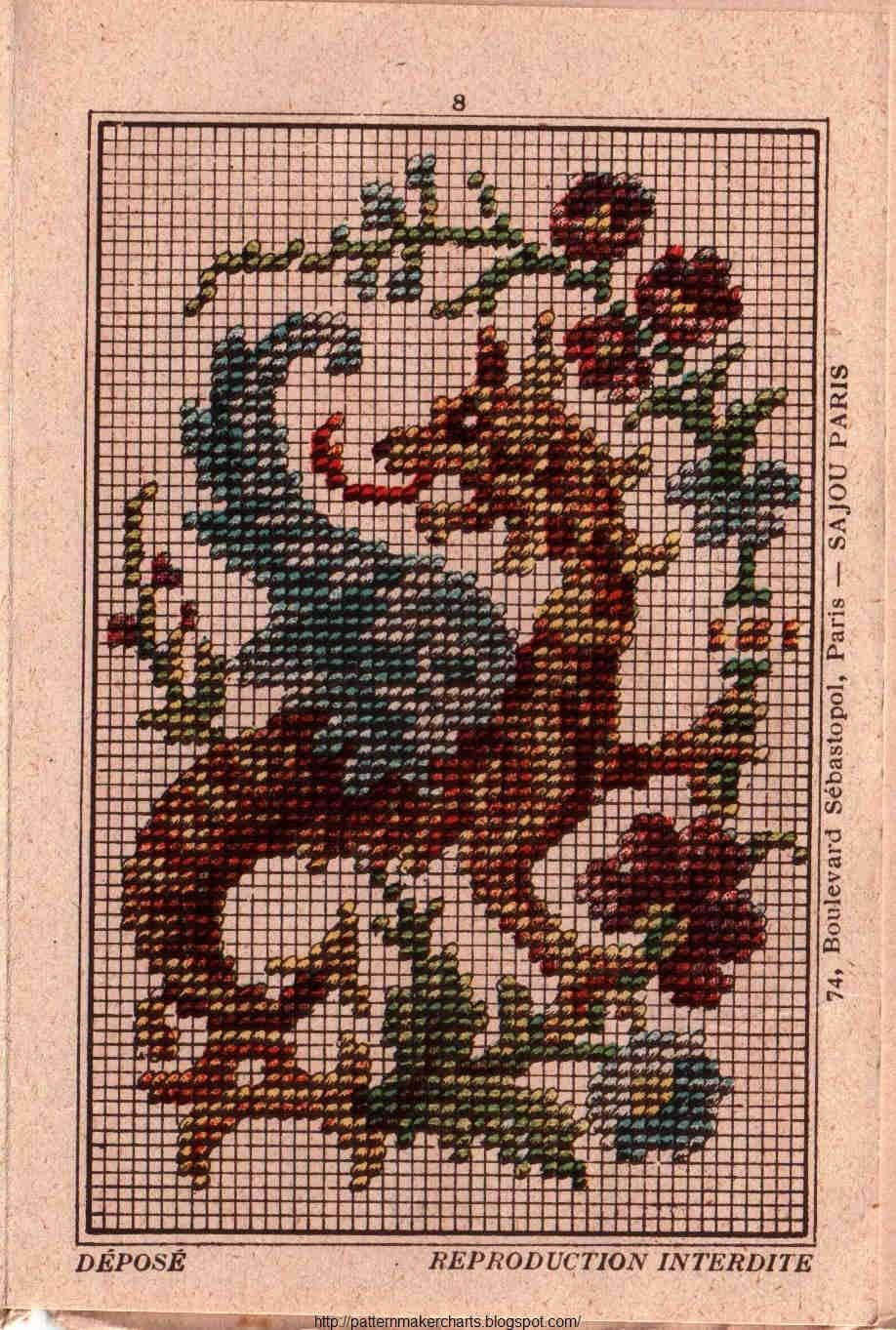 Russian Folk Ornaments 1871 Cross Stitch