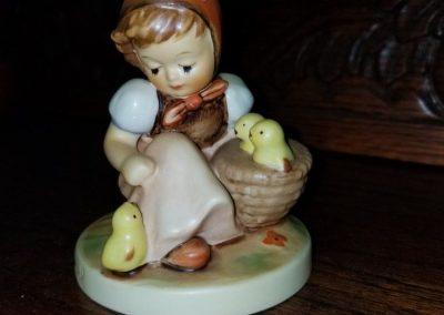 Vintage 1960's Hummel Figurine Girl with Chicks