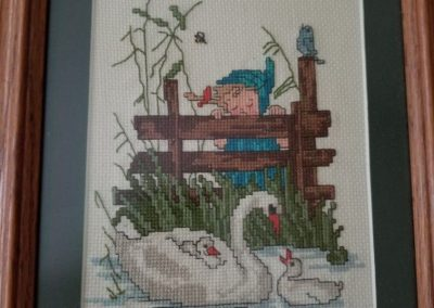 Hummel  Girl with Swans 1970 by Lady Kathleen