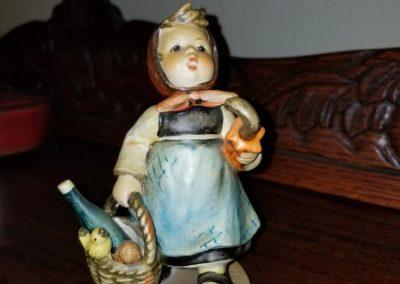 """Visiting An Invalid"" Goebel Hummel Figurine #382  Girl On An Adventure"