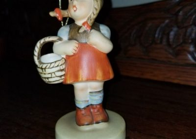 "Hummel 96  ""Little Shopper"" Figurine Girl with Basket"