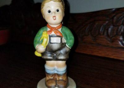 Vintage M J Hummel Figurine Trumpet Boy w/Horn W Germany old chip school boy Trumpet Boy Goebel Hummel Figurine #97