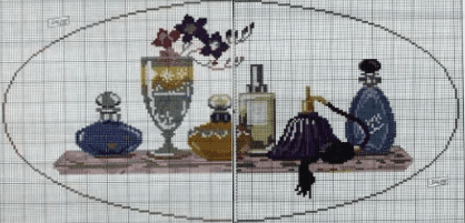 Perfume Bottles Cross Stitch